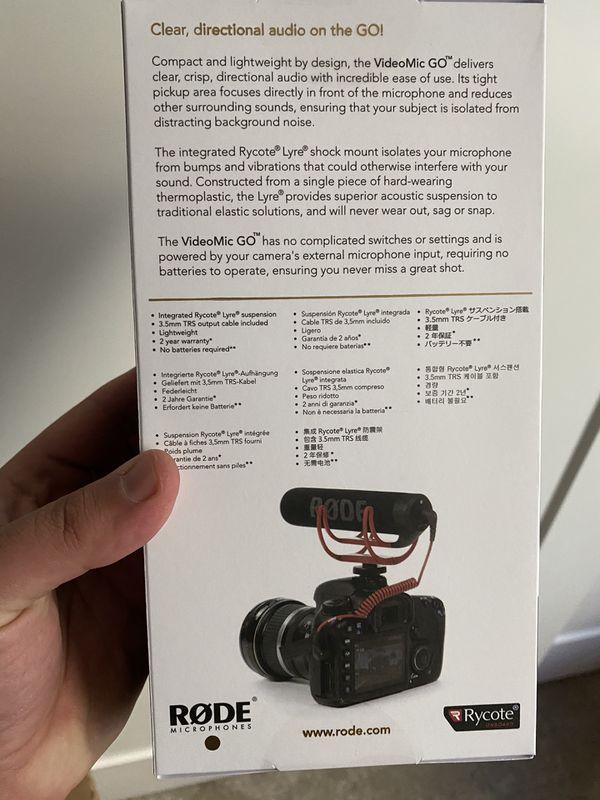 Rode Videomic GO DSLR microphone