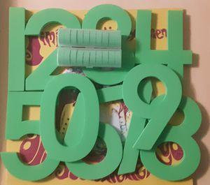 Touchmath Foam Numbers 0-9 From Elementary School Set (blue and green avail.) for Sale in Canton, IL
