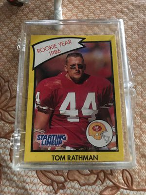 Tom Rachman NFL card and action figure for Sale in Patterson, CA