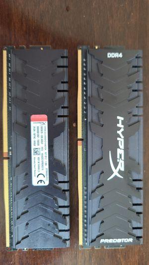 HyperX Predator Black 16GB 3200Mhz DDR4 CL16 for Sale in Falls Church, VA