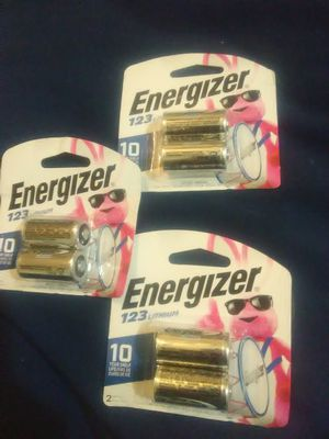 123 lithium energizer batteries for Sale in Midwest City, OK