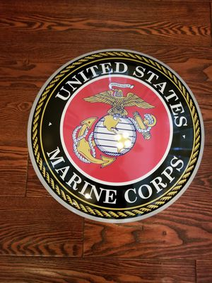 """15"""" USMC Marines Domed Metal Sign for Sale in Monterey Park, CA"""
