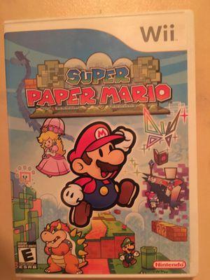 Nintendo Wii super paper Mario for Sale in Visalia, CA