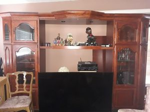 Solid cherry-wood Entertainment Center like new for Sale in Los Angeles, CA