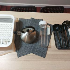 household, dish dry rack, kettle, water bottle, tray for Sale in Stanford, CA