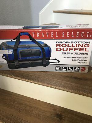 Blue rolling travel duffel bag for Sale in McKinney, TX