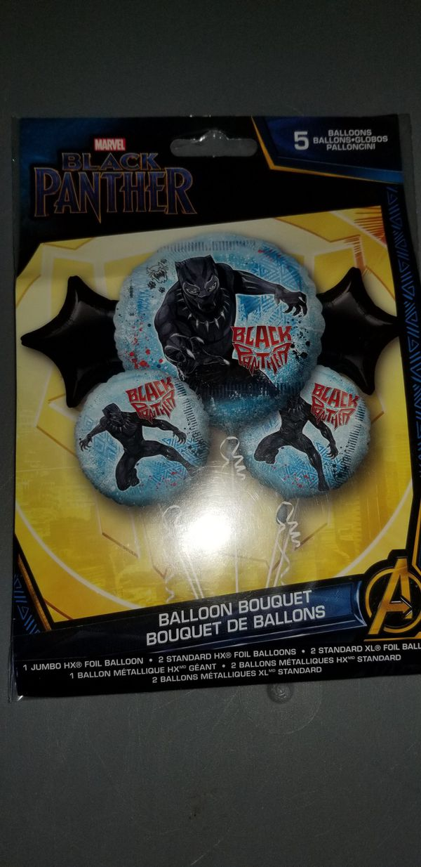 New marvel mylar black panther balloon bouquet