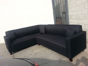 NEW 7X9FT DOMINO BLACK FABRIC SECTIONAL COUCHES for Sale in La Mesa, CA
