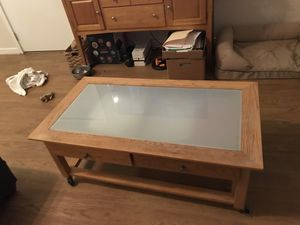 Wood/Glass Coffee Table for Sale in Arlington, VA