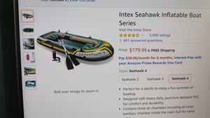 Intex Seahawk inflatable boat for 4 people. for Sale in Plano, TX