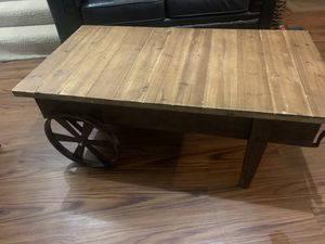 Wheel barrow style coffee table for Sale in Rockville, MD