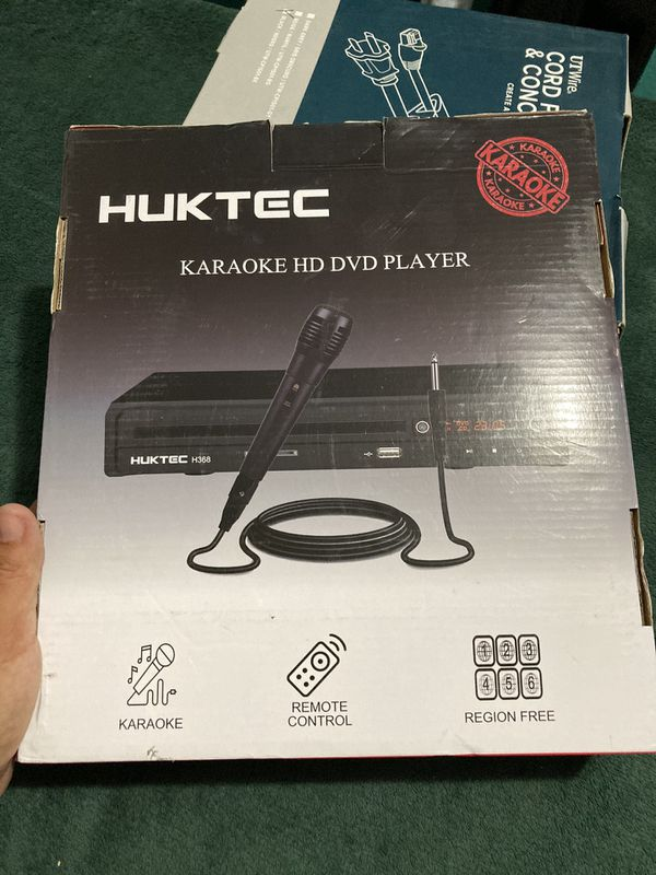 New in box DVD Player, Home DVD Players for TV Region Free DVDs 1080p Full HD Compact CD/DVD Player with Karaoke Microphone, Multi-Functional Player