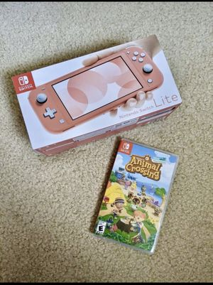 Nintendo Switch Lite Coral + Animal Crossing for Sale in Adelphi, MD