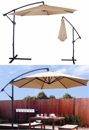 New in box $65 each 10 feet offset off set umbrella tilt crank with cross stand included for Sale in Whittier, CA