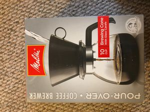 Melitta Pour-Over Coffee Brewer w/ Glass Carafe, 6 Cups (6 Ounces per Cup) for Sale in Streamwood, IL