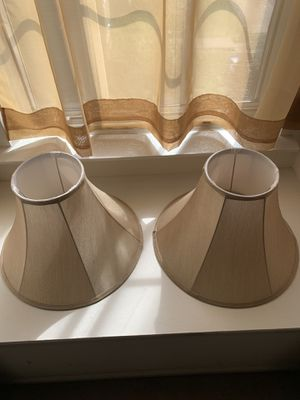 2 Beige/Tan Lamp Shades for Sale in Germantown, MD
