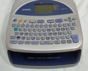 Casio CW-75 Disc Title Printer for Sale in Gadsden, AL