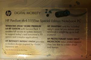 Hp Pavilion dv4-1155se Special Edition Notebook PC for Sale in Sicklerville, NJ