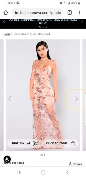 Honor sequin Dress Rose Gold for Sale in Houston, TX