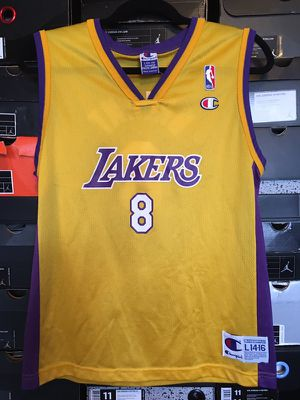 7583a96bf722ca Vintage Kobe Bryant Lakers Champion Jersey (Size Kids Large 14-16) for Sale