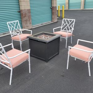 Beautiful 6 piece Outdoor Patio Set Furniture With Gas Fire Pit!! ALL BRAND NEW 🔥🔥🔥 FREE DELIVERY WITHIN 5 MILES 👍 for Sale in Las Vegas, NV