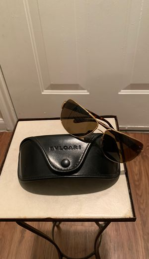 BVLGARI Sunglasses Gold brown tint! Real! for Sale in Dallas, TX