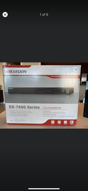 HIK VISION security camera system NVR only for Sale in Tampa, FL