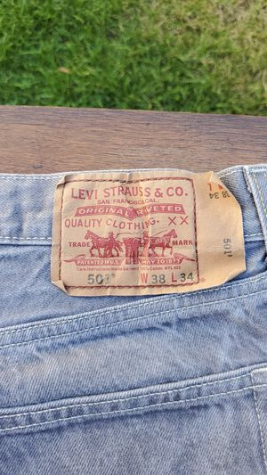 New Levi Strauss 501 Men's Jeans Light Gray Color Pre Wash W38 / 34 for Sale in Chicago, IL