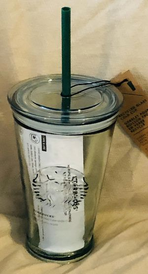 NEW Starbucks 2019 Glass Cold to Go Cup Mug Tumbler, 16oz, Recycled Glass for Sale in Ashburn, VA