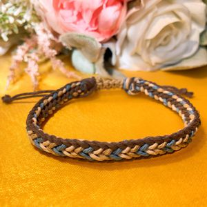 Hand Braided Reversible Bracelet 2in1 Blue Men Valentines Gift Made In USA for Sale in Bloomington, IN