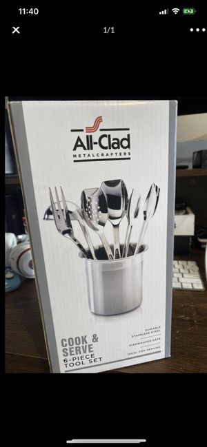 All-Clad Stainless Steel 6 Piece Cook and Serve Kitchen Utensil Crock Set for Sale in Los Angeles, CA