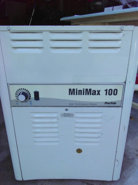 Minimax 100 pool heater propane operated and natural gas