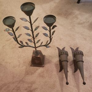 Candle Holder, Sconces, 2 ea for Sale in Midlothian, VA