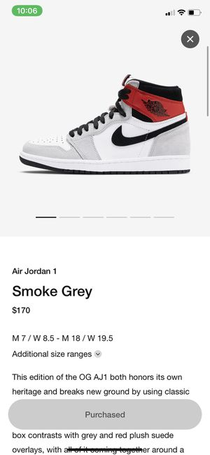 Air Jordan 1 Smoke Grey Size 10 for Sale in Parma, OH
