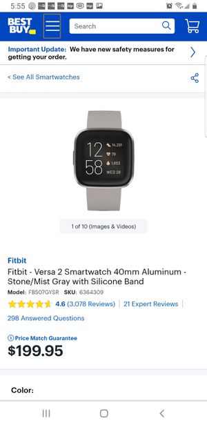 Fitbit Versa 2 Smartwatch brand mew factory Seal. for Sale in Escondido, CA