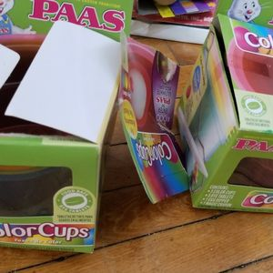 Two Boxes Egg Coloring Cups for Sale in Appleton, WI