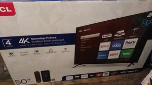 """TCL 50"""" Smart Tv Roku Remote included . NEVER OPENED. for Sale in Garfield Heights, OH"""
