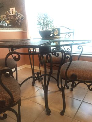 *Solid Wrought iron Dining / Kitchen table & Chairs!! for Sale in Orlando, FL