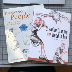 Dressed figure drawing book art student for Sale in San Francisco, CA