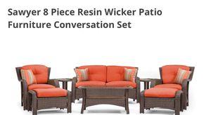 6-Piece Patio Furniture Conversation Set (Resin Wicker) for Sale in Atlanta, GA