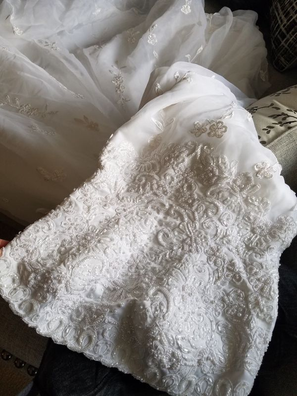 White wedding dress!