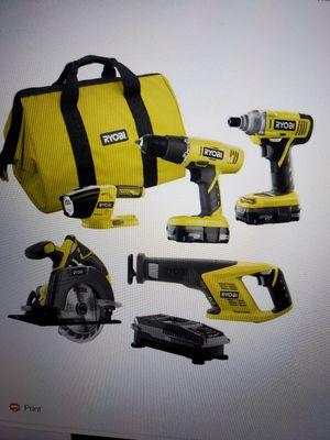 Ryobi 5 tool set for Sale in San Jose, CA