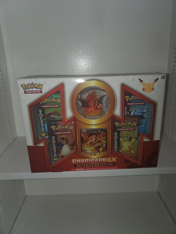 Pokemon card Charizard ex red blue collection with figure booster cards