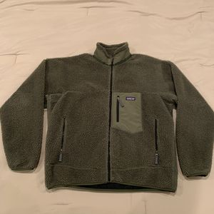 Vintage Patagonia Retro X Deep Pile Fleece Jacket Sz XL Mens Forest Green Sherpa for Sale in Everett, WA