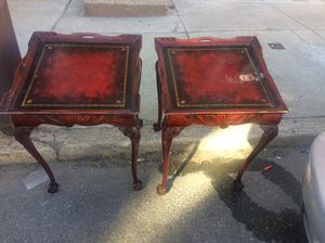 Set2 Brescia NYLeather Top Glaw&Ball End tables. for Sale in Philadelphia, PA