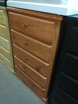 Pinewood redwood 5 drawer dresser for Sale in Fontana, CA