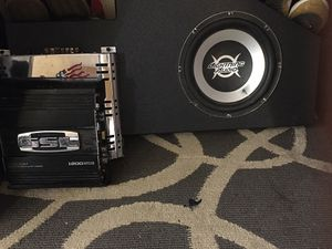 Lighting audio in pro audio box & Two Separate Amps for Sale in San Antonio, TX