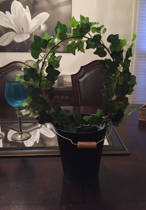 Pretty circle shaped artificial plant with pot for Sale in Manassas, VA