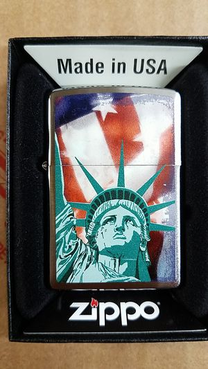 Zippo statue of liberty flag brushed chrome 28282 for Sale in Los Angeles, CA