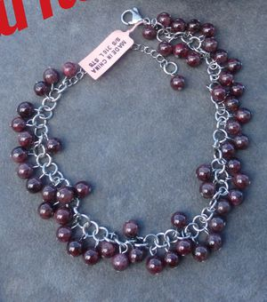 Genuine Garnet Bracelet / Anklet for Sale in Pompano Beach, FL